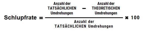 Schlittschuh-Ratenformel