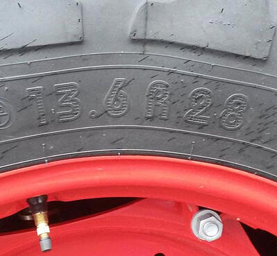 Kennzeichnung von Traktorreifen in Zoll