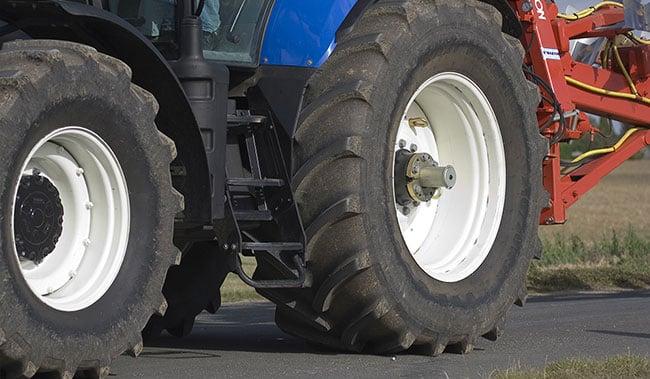 Druck der Traktorreifen