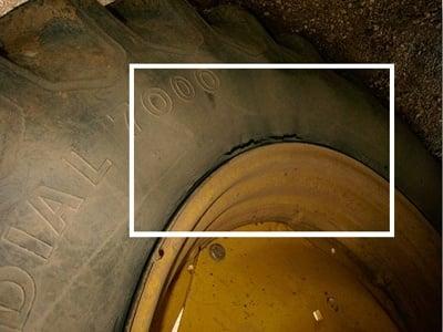 Riss im Reifen unmittelbar am Felgenrand