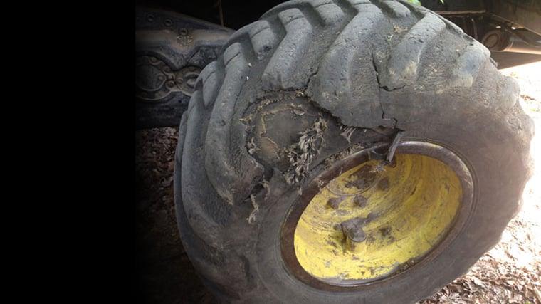 Verschleiß der Traktorreifen: Achtung, Gefahr